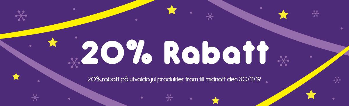 20% rabatt på utvalda jul produkter!