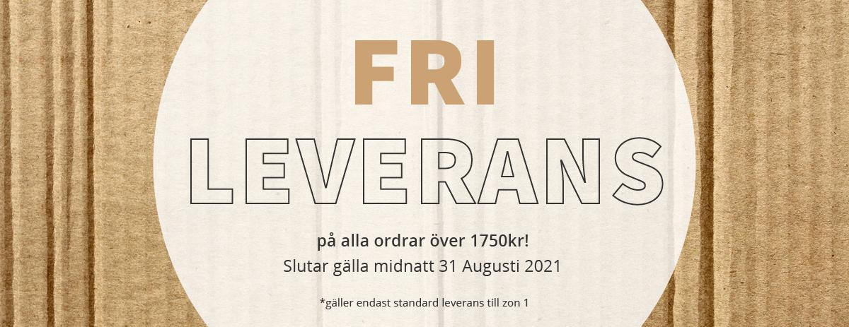 Fri Leverans - Förlängt till Midnatt 31/08/2021